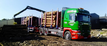 Evans timber lorry haulage uk
