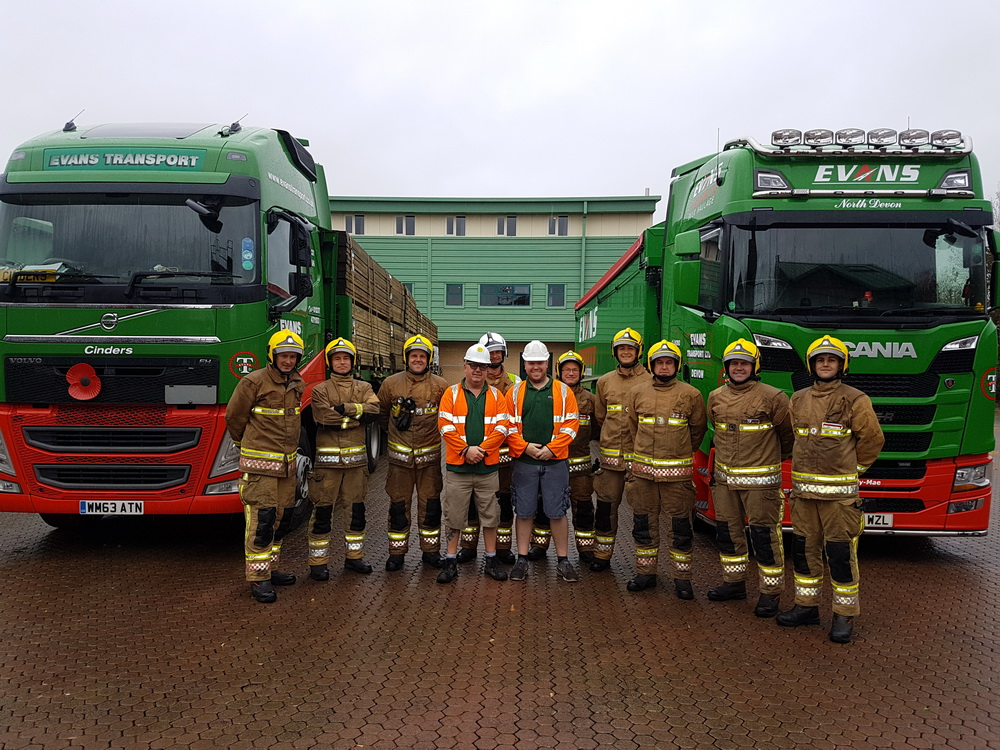 Training with Trucks and the Devon Fire Service