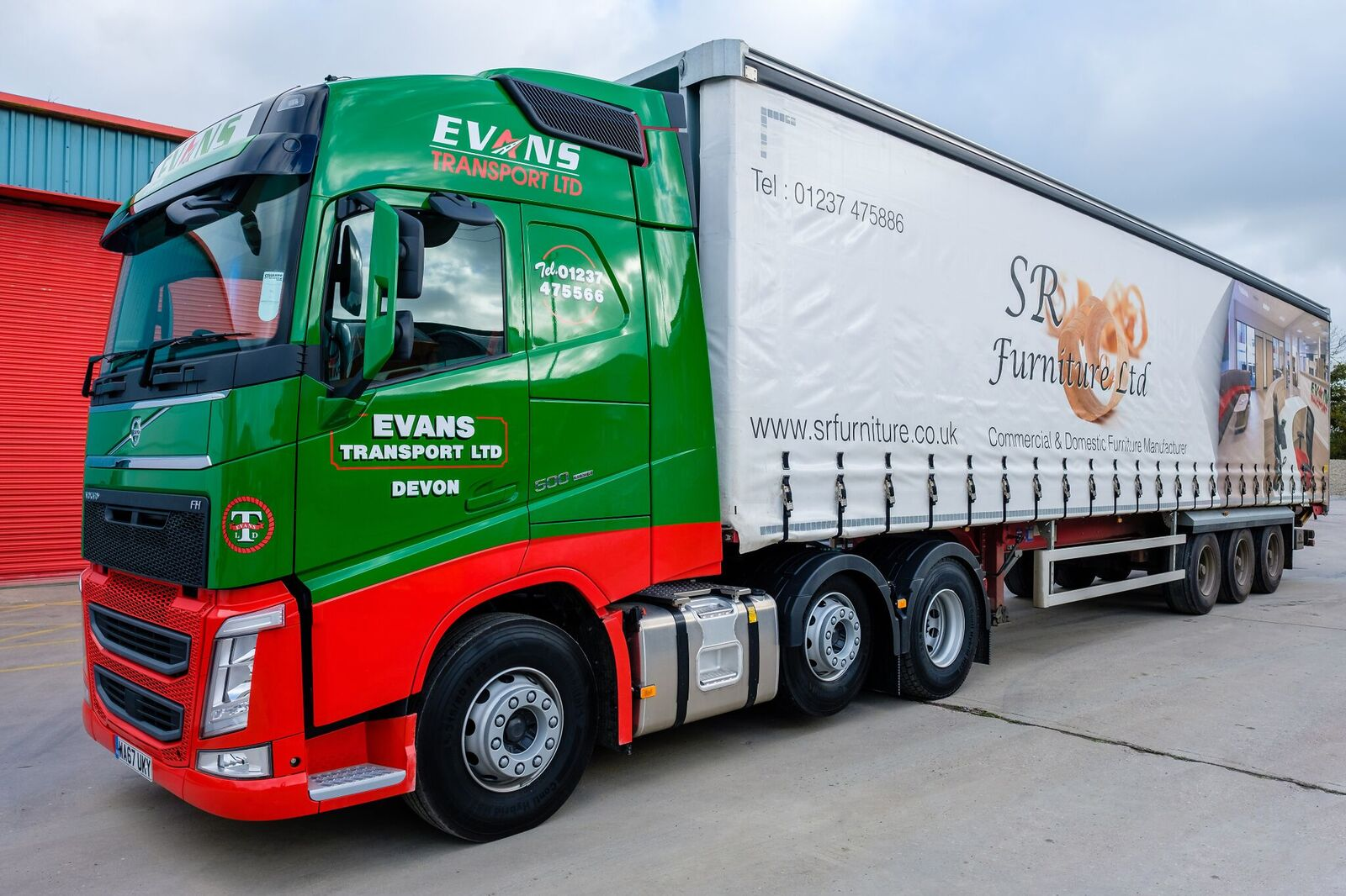 SR Furniture Evans Transport Livery