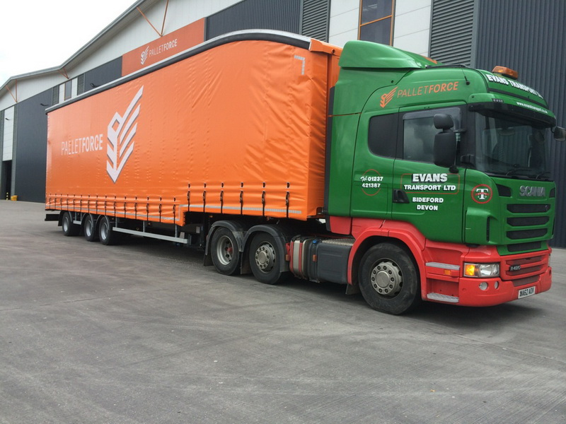 EvansTransport new 50ft Palletforce trailer